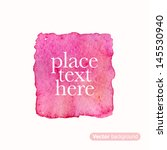pink square. abstract stylish... | Shutterstock .eps vector #145530940