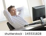 mature businessman with hands... | Shutterstock . vector #145531828