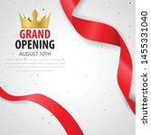 grand opening card design with... | Shutterstock .eps vector #1455331040