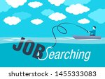 job searching job hunting  and... | Shutterstock .eps vector #1455333083