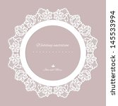 wedding invitation. lace... | Shutterstock .eps vector #145533994