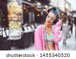 Cool Funky Young Woman With...