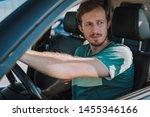 bearded gentleman in the driver ...   Shutterstock . vector #1455346166