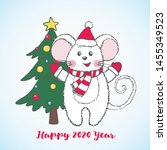 new year greeting card with... | Shutterstock .eps vector #1455349523