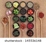 large spice  herb and food... | Shutterstock . vector #145536148
