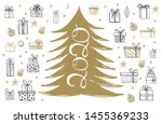 merry christmas and new year... | Shutterstock .eps vector #1455369233