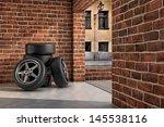 tires on the garage | Shutterstock . vector #145538116