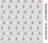 seamless pattern. hand drawn... | Shutterstock .eps vector #1455383906