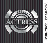 actress silver badge or emblem. ... | Shutterstock .eps vector #1455385949
