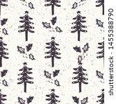 seamless pattern. hand drawn... | Shutterstock .eps vector #1455388790