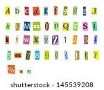 newspaper magazine alphabet...   Shutterstock .eps vector #145539208