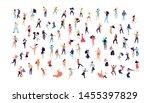 crowd of young people dancing... | Shutterstock .eps vector #1455397829