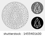 mesh eos currency model with... | Shutterstock .eps vector #1455401630