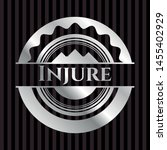 injure silvery badge or emblem. ... | Shutterstock .eps vector #1455402929