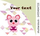 cute kitty cat vector... | Shutterstock .eps vector #1455404723