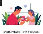 pediatric dentistry  medical... | Shutterstock .eps vector #1455407033