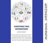 template with christmas tree... | Shutterstock .eps vector #1455412109
