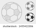 mesh football ball model with... | Shutterstock .eps vector #1455422306