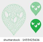 mesh flora field marker model... | Shutterstock .eps vector #1455425636