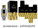 packaging design  label on... | Shutterstock .eps vector #1455426239