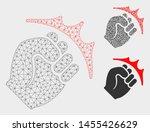 mesh fist strike model with... | Shutterstock .eps vector #1455426629