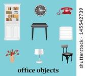 editable furniture vector... | Shutterstock .eps vector #145542739