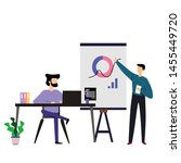 man working vector template... | Shutterstock .eps vector #1455449720