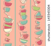 Seamless Pattern With Kitchen...