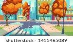 city crossroad in autumn rain... | Shutterstock .eps vector #1455465089