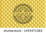 chaotic gold badge. scales... | Shutterstock .eps vector #1455471383