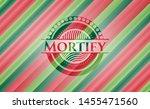 mortify christmas colors emblem.... | Shutterstock .eps vector #1455471560