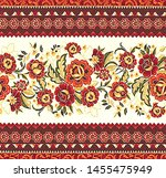 seamless border for print and... | Shutterstock . vector #1455475949