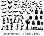 collection of halloween... | Shutterstock .eps vector #1455491450