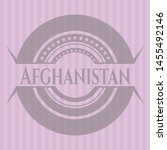 afghanistan badge with pink... | Shutterstock .eps vector #1455492146