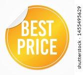 best price yellow sticker.... | Shutterstock .eps vector #1455495629