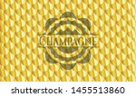 champagne gold badge. scales... | Shutterstock .eps vector #1455513860