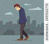 Man Feeling Depressed Walking...