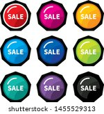 design colorful sale label... | Shutterstock .eps vector #1455529313