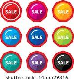design colorful sale label... | Shutterstock .eps vector #1455529316
