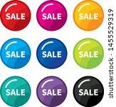 design colorful sale label... | Shutterstock .eps vector #1455529319
