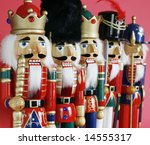 row of nutcrackers - stock photo