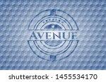 avenue blue emblem with... | Shutterstock .eps vector #1455534170
