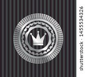 crown icon inside silvery badge ... | Shutterstock .eps vector #1455534326