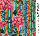 watercolor seamless pattern...   Shutterstock . vector #1455550106