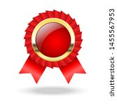 red and gold ribbons award ... | Shutterstock .eps vector #1455567953