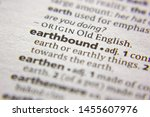 Small photo of Word or phrase Earthbound in a dictionary
