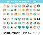 business icons set for business ... | Shutterstock .eps vector #1455614210