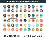 business icons set for business ... | Shutterstock .eps vector #1455614213