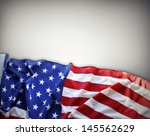 closeup of american flag on... | Shutterstock . vector #145562629