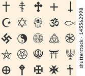 vector set of religious symbols | Shutterstock .eps vector #145562998